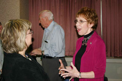 Christie Romero shares her enthusiasm with Denise Nelson and Bob Davis.