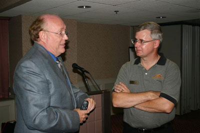 GIA's Al Gilbertson with chapter member Chuck Hyland