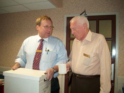 President Toby Fitzkee and Robert Davis