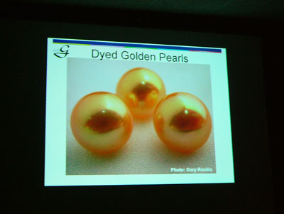 One of the many issues covered was dyeing pearls