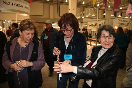 Lois Berger, right, once again takes the main pearl buyers to the principal pearl dealers.