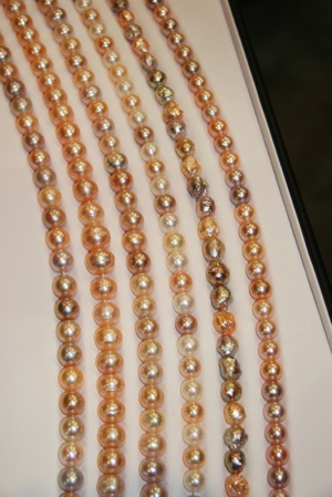 Golden pearls with and without texture were very popular this year.