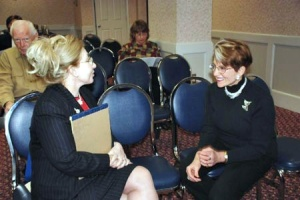 Chapter VP Doris Voigt with tonight's speaker Brenda Forman