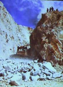 Burma jade mining heavy equipment