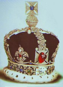 Royal crown with gems