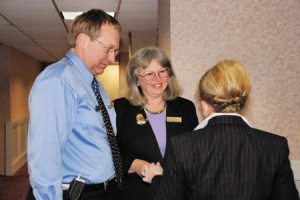 Toby Fitzkee, Denise Nelson, and Doris Voigt before the meeting