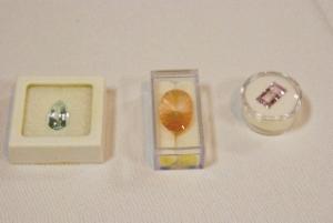 Aquamarine, Rosequartz, Bicolored Amethyst