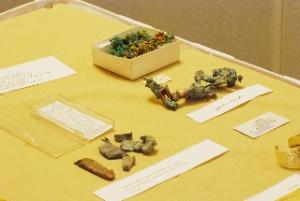 Courtland Lee's native copper exhibit