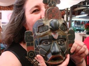 Replica of Tikal mask, Guatemala
