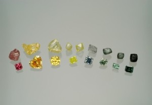 Rough + Cut Diamonds
